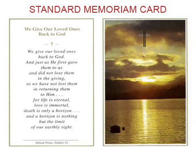 Remembrance cards for funeral funeral order of service for In memoriam cards template